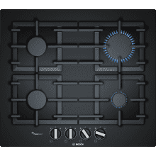 Bosch H45xW590xD520 Gas on Glass 4 Burner Hob With Flameselect