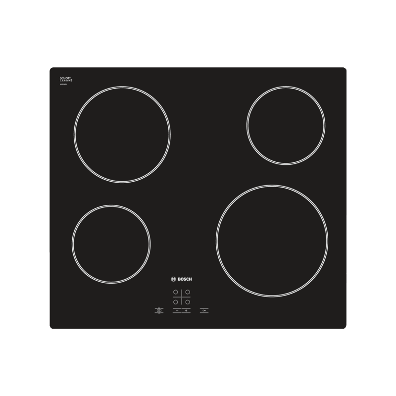 Bosch H45xW592xD522 Ceramic 4 Burner Hob - Black primary image