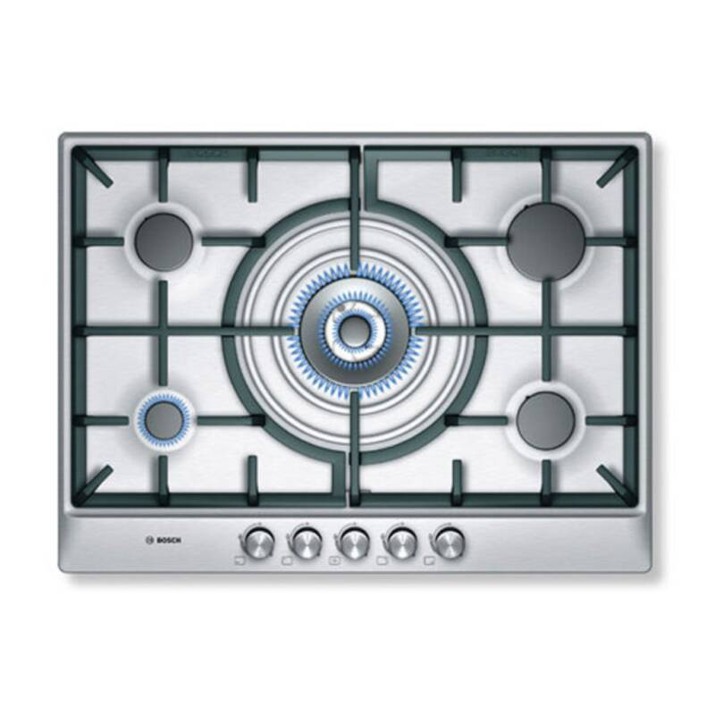 Bosch H45xW702xD520 Gas 5 Burner Hob - Stainless Steel primary image