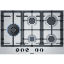 Bosch H45xW750xD520 Gas 5 Burner Hob With Flameselect