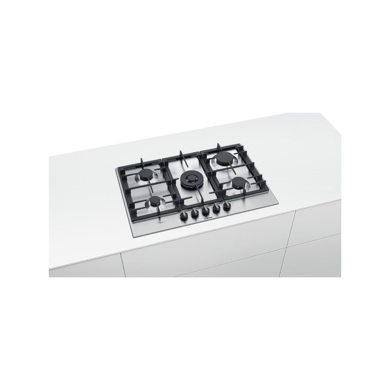 Bosch H45xW750xD520 Gas 5 Burner Hob With Flameselect-S/Steel additional image 2