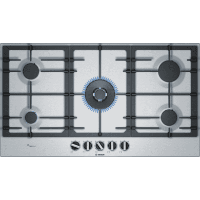 Bosch H45xW915xD520 Gas 5 Burner Hob With Flameselect - Stainless Steel
