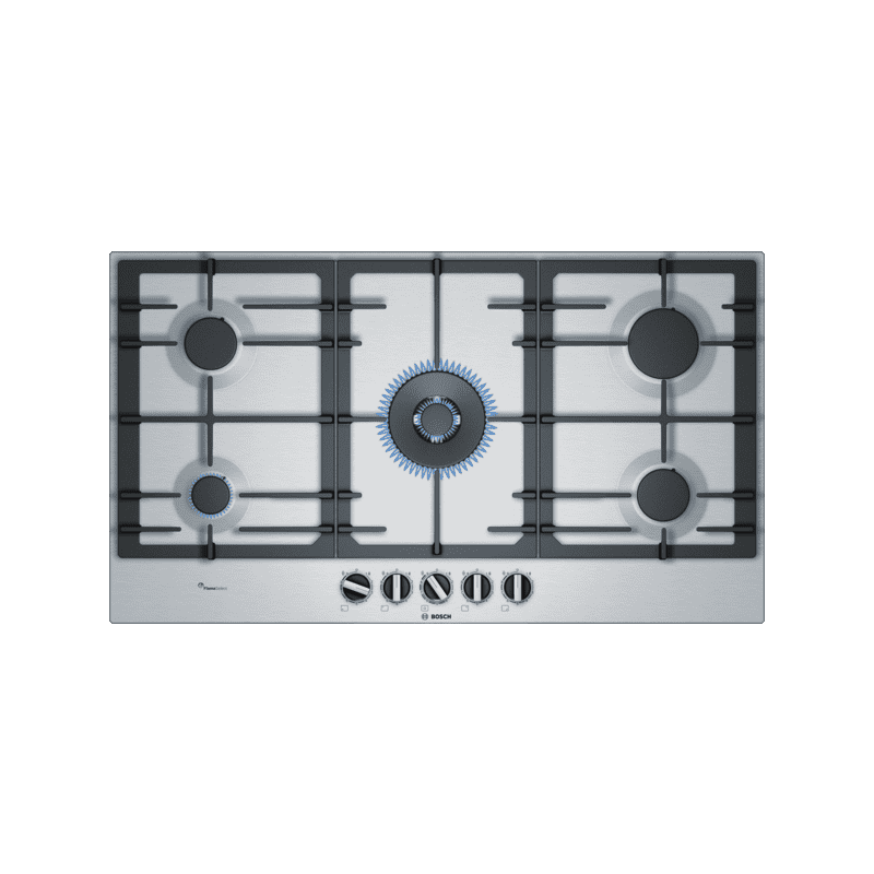 Bosch H45xW915xD520 Gas 5 Burner Hob With Flameselect - Stainless Steel primary image