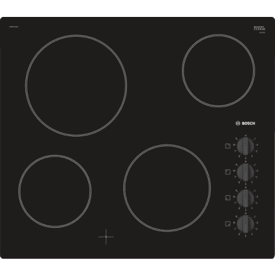 Bosch H46xW592xD522 Ceramic 4 Zone Hob - Black