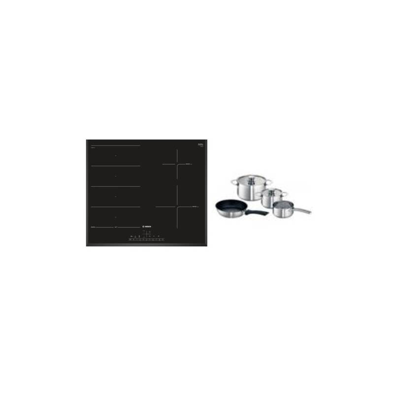 Bosch H51xW592xD522 FlexInduction 4 Zone Hob - Black primary image