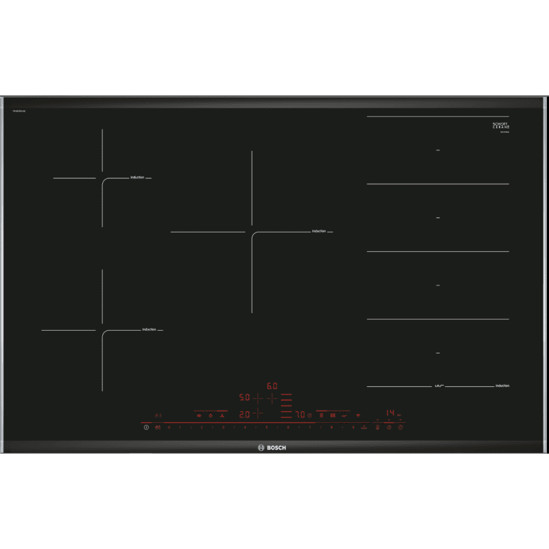 Bosch H51xW802xD522 FlexInduction 5 Zone Hob With Home Connect primary image