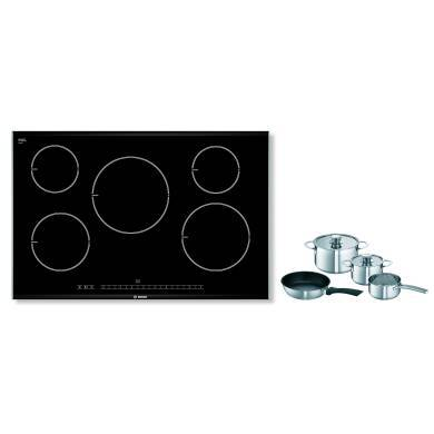Bosch H51xW816xD527 Induction 5 Zone Hob - Black - PIM875N14E