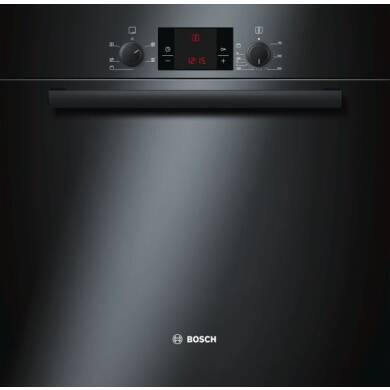 Bosch H595xW595xD548 Electric Single Fan Oven - Black