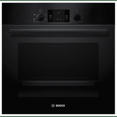 Bosch H595xW595xD548 Electric Single Fan Oven - Black