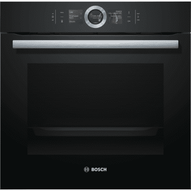 Bosch H595xW595xD548 Home Connect Single Pyrolytic Oven - Black