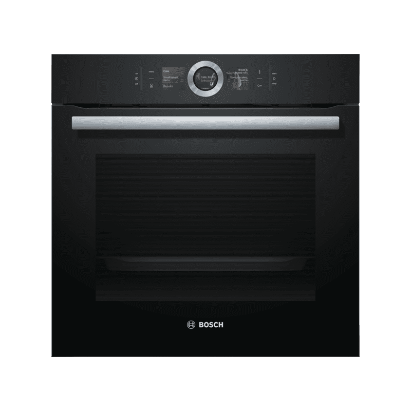 Bosch H595xW595xD548 Home Connect Single Pyrolytic Oven - Black primary image
