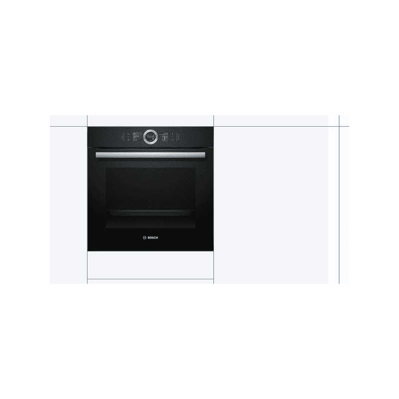 Bosch H595xW595xD548 Home Connect Single Pyrolytic Oven - Black additional image 3