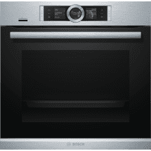 Bosch H595xW595xD548 Home Connect Single Pyrolytic Oven - Stainless Steel