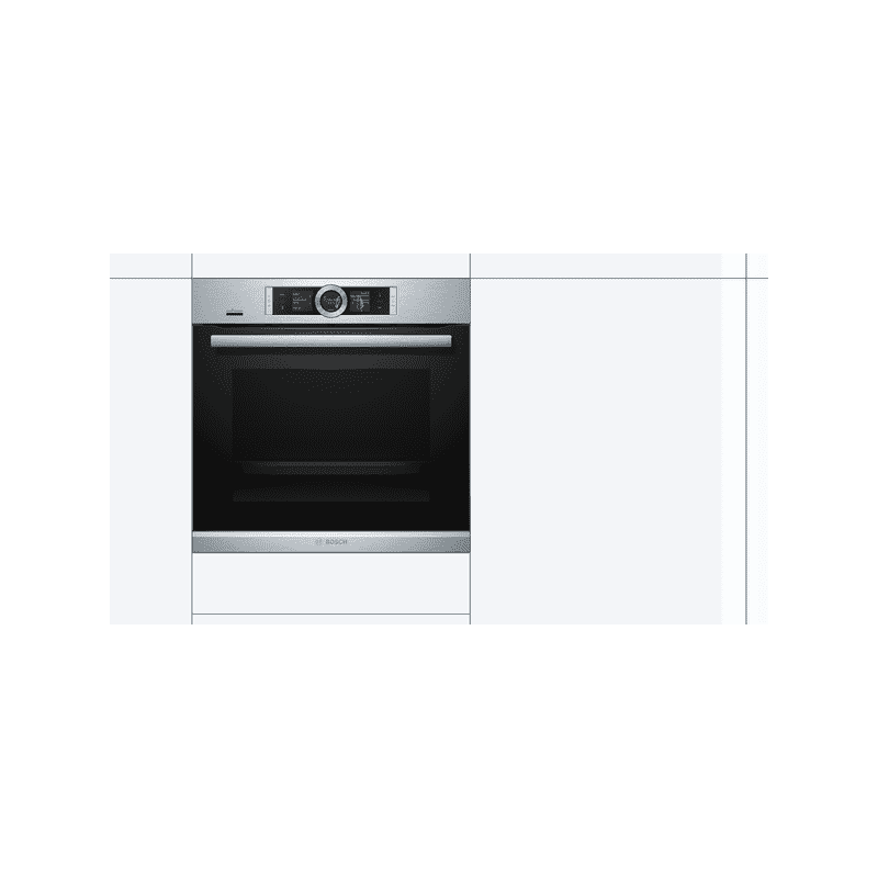 Bosch H595xW595xD548 Home Connect Single Pyrolytic Oven - Stainless Steel additional image 5