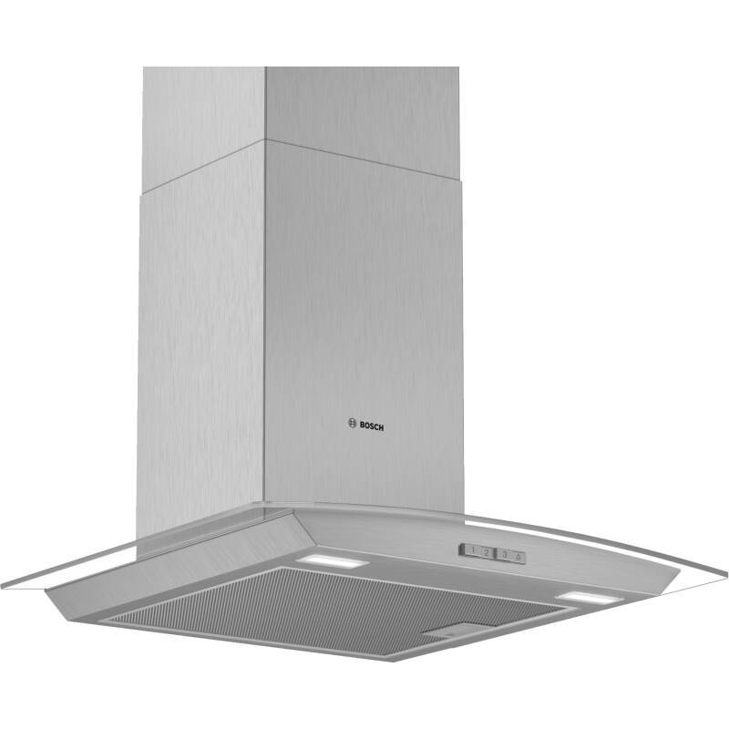 Bosch H617xW600xD488 Glass Chimney Hood primary image