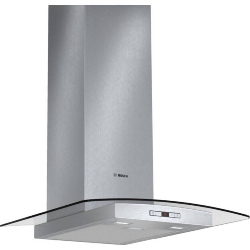 Bosch H638xW600xD540 Chimney Cooker Hood - Stainless Steel and Curved Glass primary image