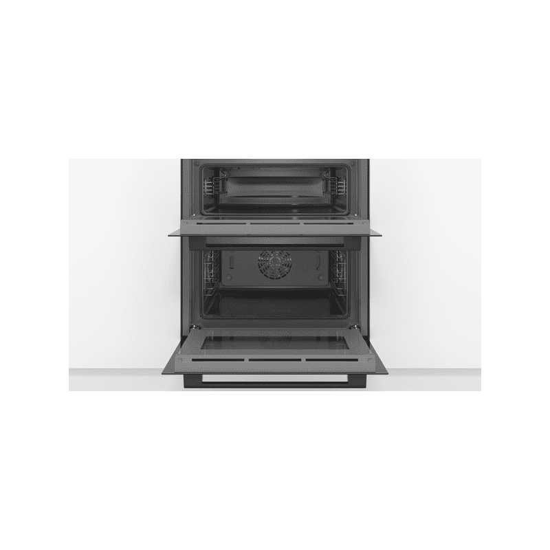 Bosch H717xW594xD550 Built-Under Double Oven - Black additional image 1