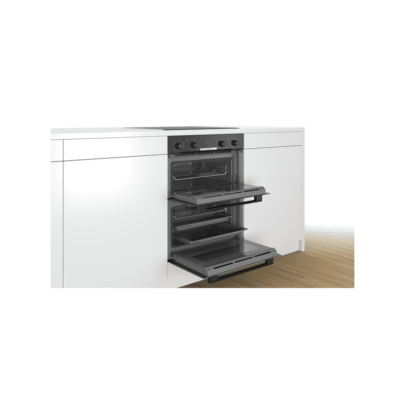Bosch H717xW594xD550 Built-Under Double Oven - Black additional image 2