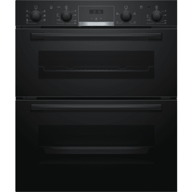 Bosch H717xW594xD550 Built-Under Double Oven - Black