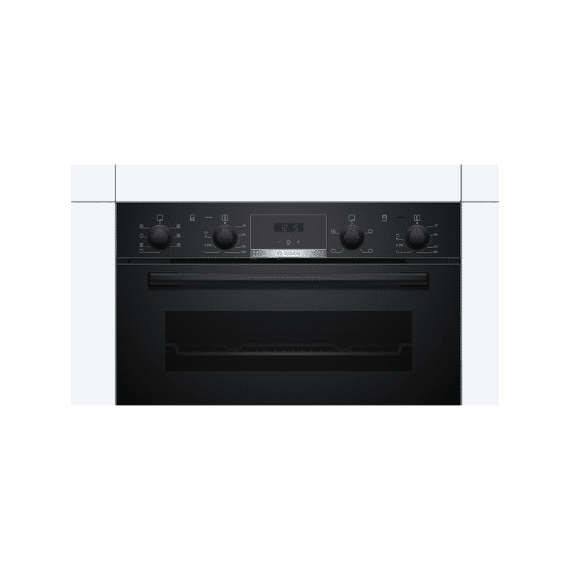 Bosch H717xW594xD550 Built-Under Double Oven - Black additional image 3
