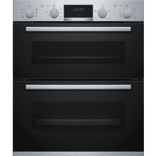 Bosch H717xW594xD550 Built-Under Double Oven - Stainless Steel