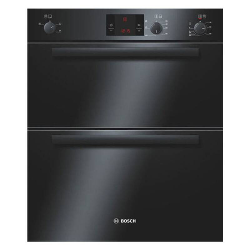 Bosch H717xW595xD550 Electric Double Fan Oven - Black primary image
