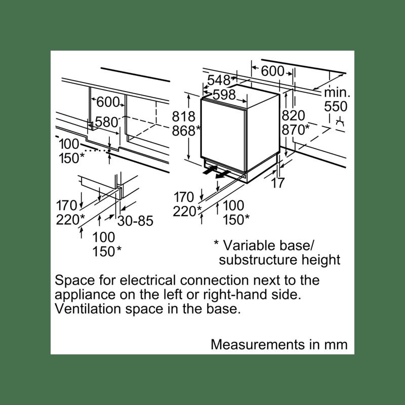 Bosch H820xW598xD548 Build Under Fridge additional image 1