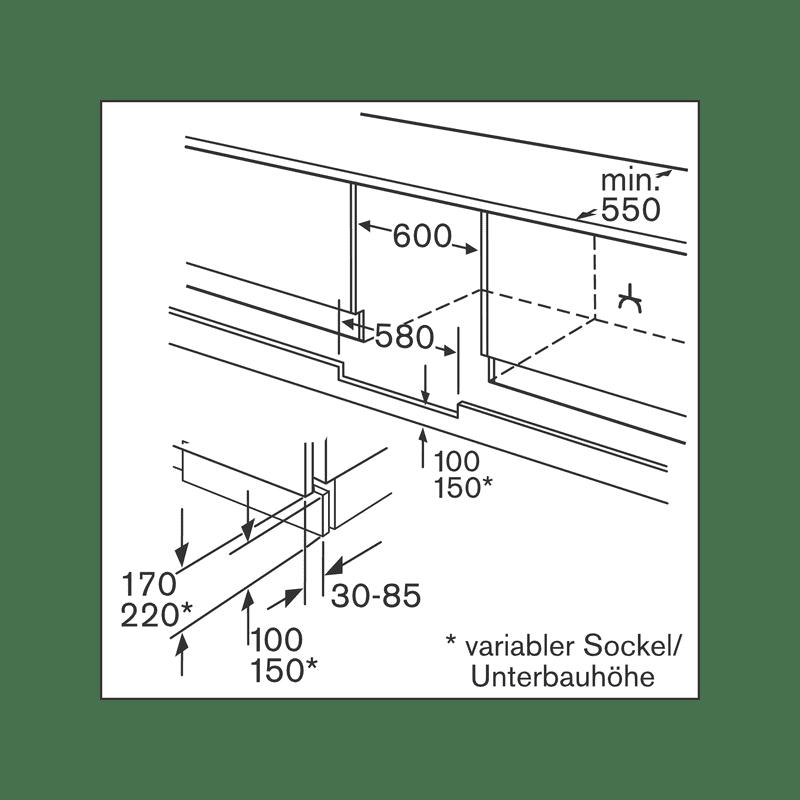 Bosch H820xW598xD548 Build Under Fridge additional image 2