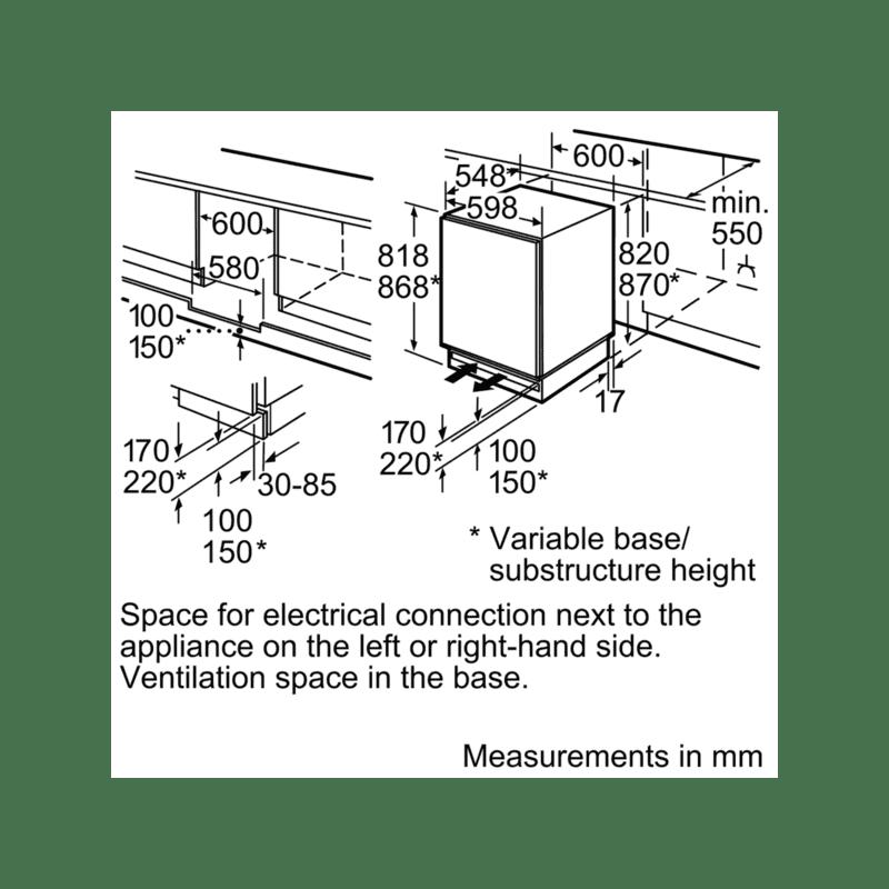 Bosch H820xW598xD548 Under Counter fridge additional image 1