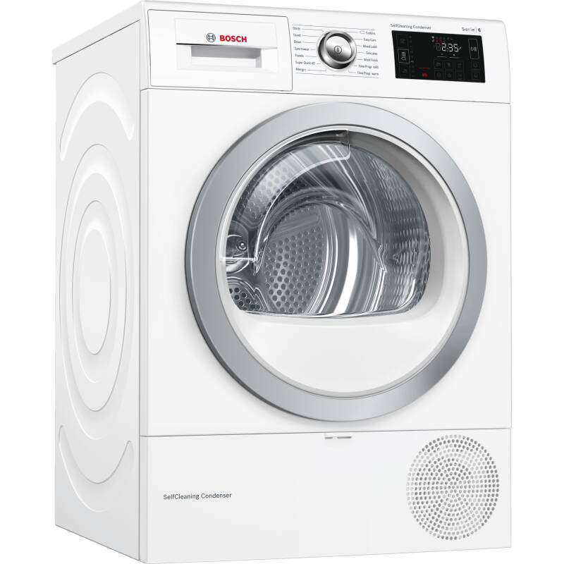 Bosch H842xW598xD597 Free Standing Condenser Dryer (9kg) with Home Connect primary image