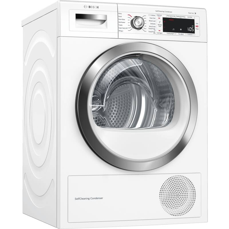 Bosch H842xW598xD599 Free Standing Condenser Dryer (9kg) with Home Connect primary image