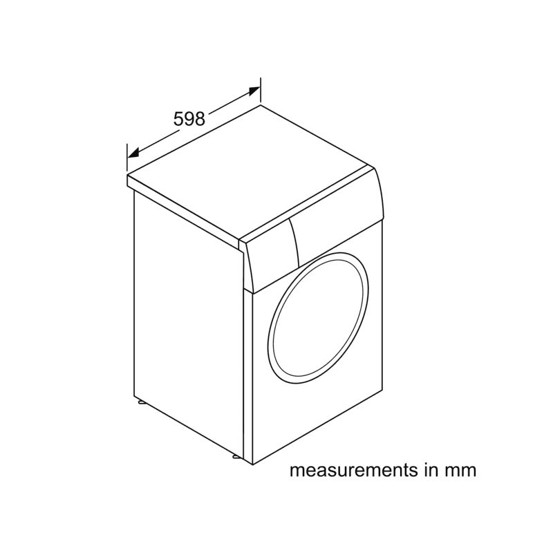 Bosch H845xW598xD590 Freestanding Washing Machine with Home Connect (9kg) additional image 4