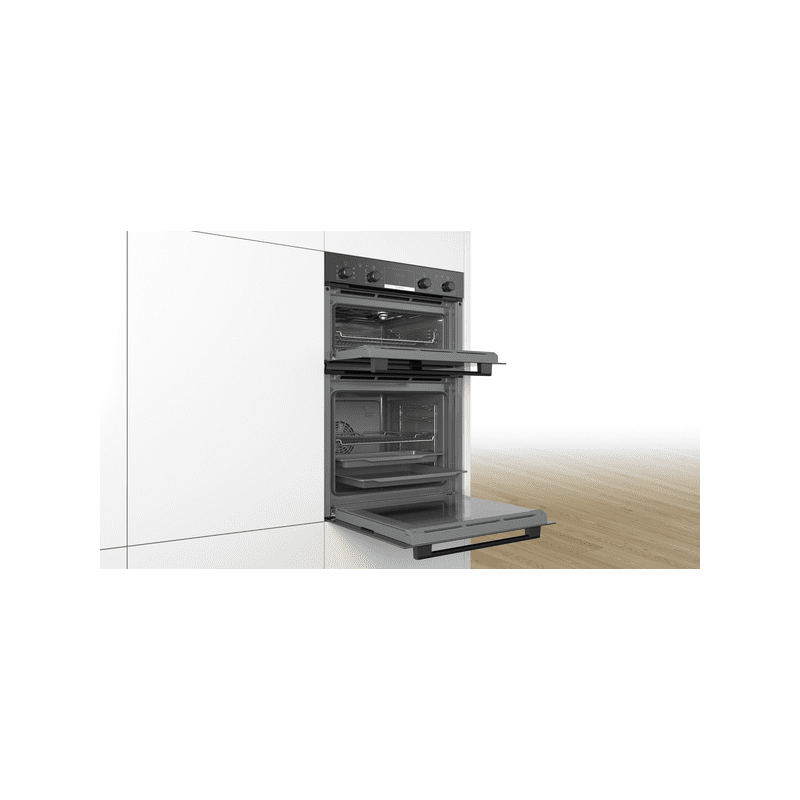 Bosch H888xW594xD550 Built-In Double Oven - Black additional image 2