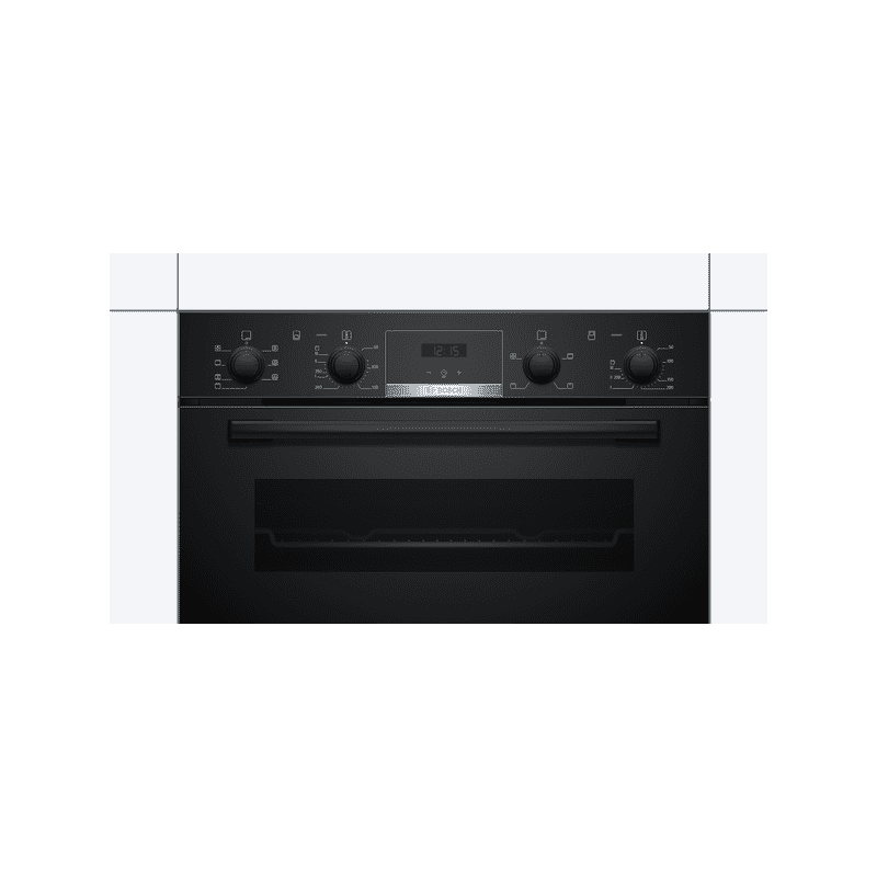 Bosch H888xW594xD550 Built-In Double Oven - Black additional image 3