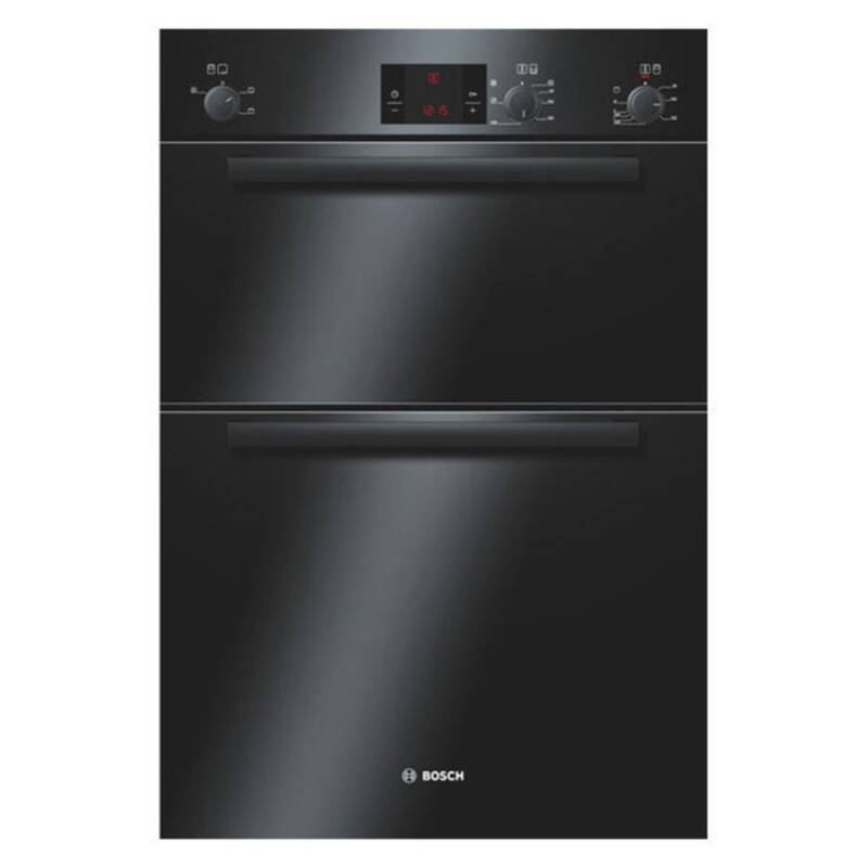 Bosch H888xW595xD550 Electric Double Fan Oven - Black primary image