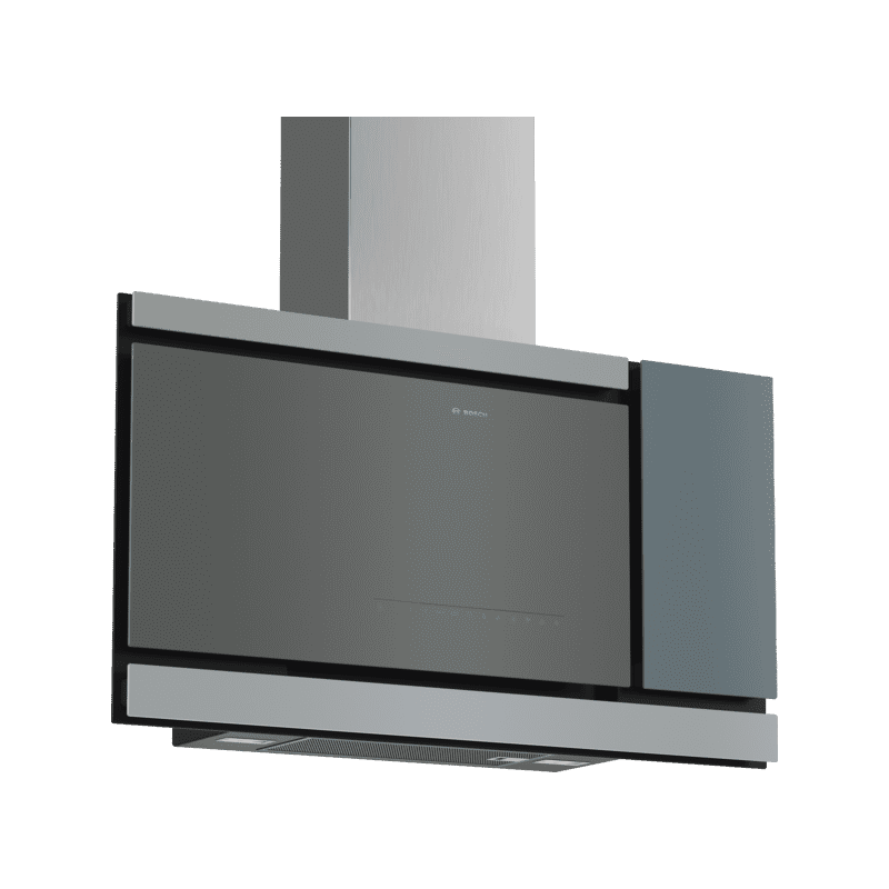 Bosch H969xW890xD263 Flat Glass Chimney Cooker Hood - Grey primary image