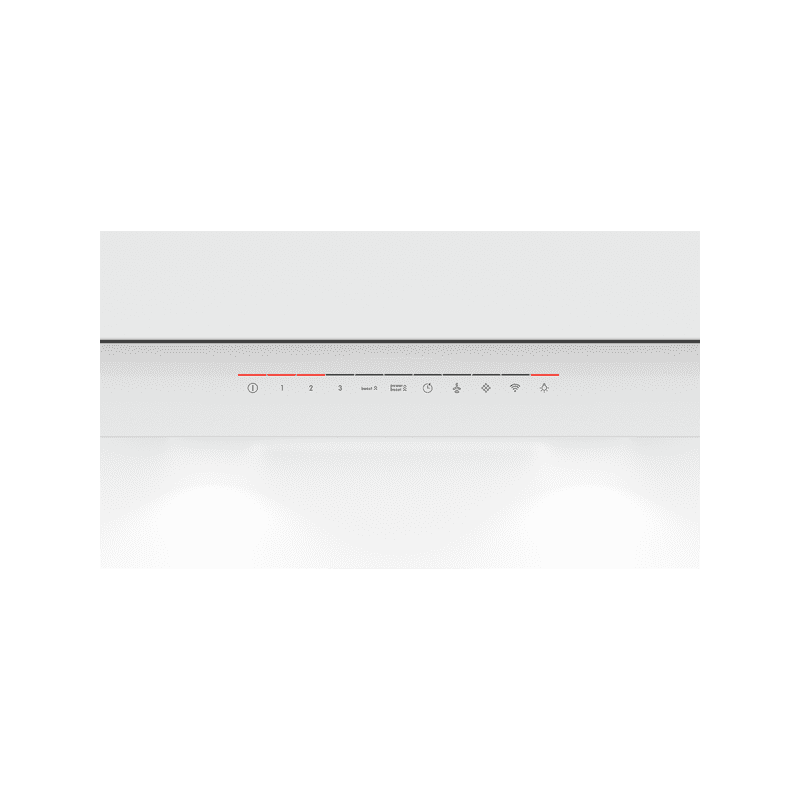 Bosch H969xW890xD263 Flat Glass Chimney Cooker Hood - White additional image 1
