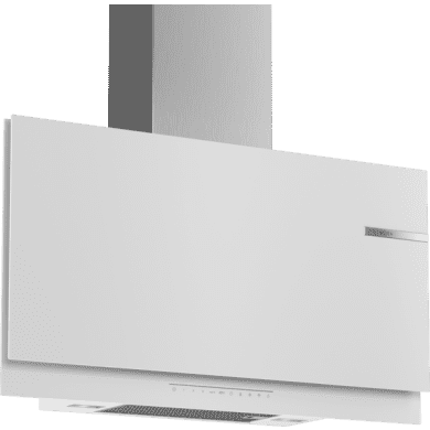 Bosch H969xW890xD263 Flat Glass Chimney Cooker Hood - White