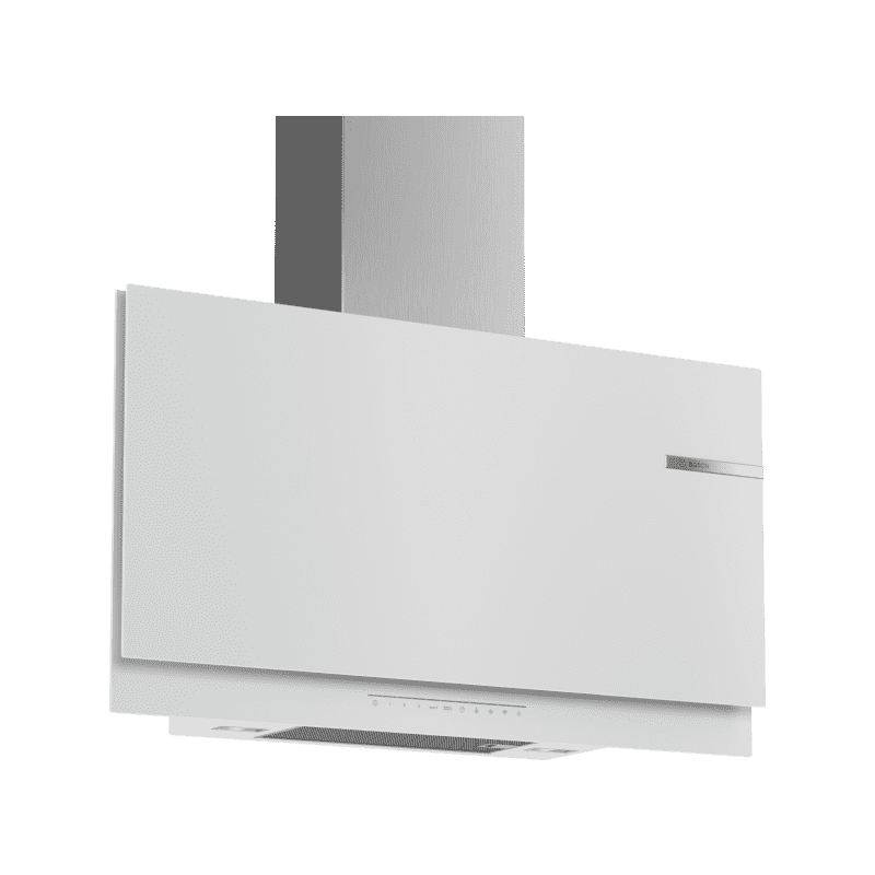Bosch H969xW890xD263 Flat Glass Chimney Cooker Hood - White primary image