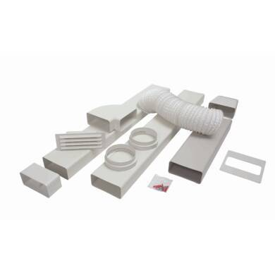 CDA 125mm x 3m Flat Channel Ducting Kit