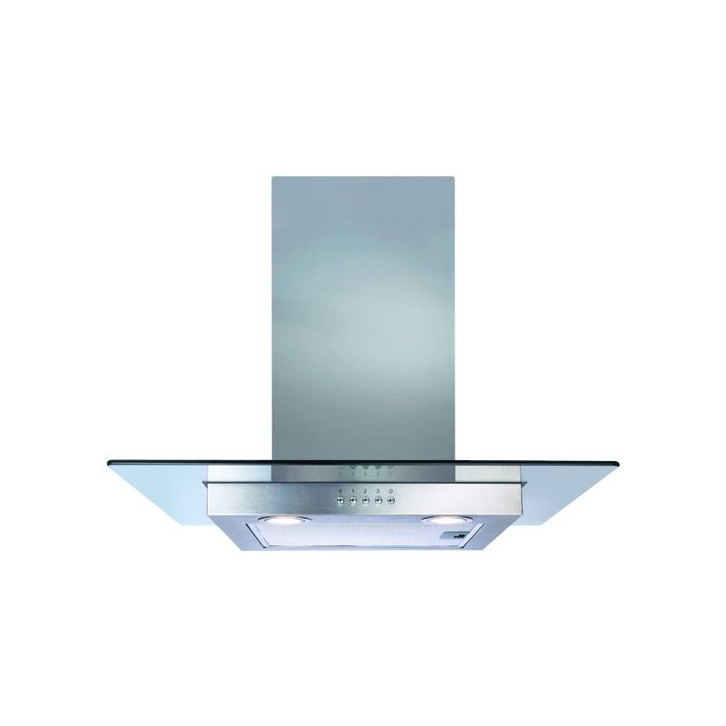 CDA H1020xW600xD500 Flat Glass Chimney Cooker Hood - Stainless Steel primary image