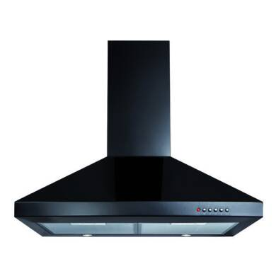 CDA H1020xW700xD500 Chimney Cooker Hood - Black