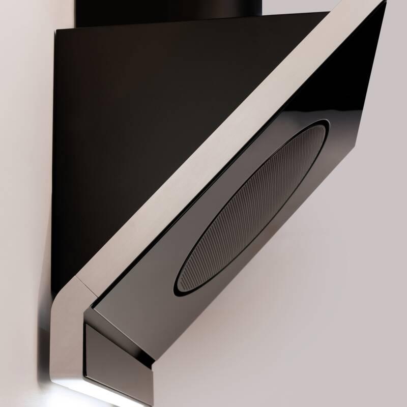 CDA H1080xW600xD455 Designer Angled Glass Hood - Black additional image 2