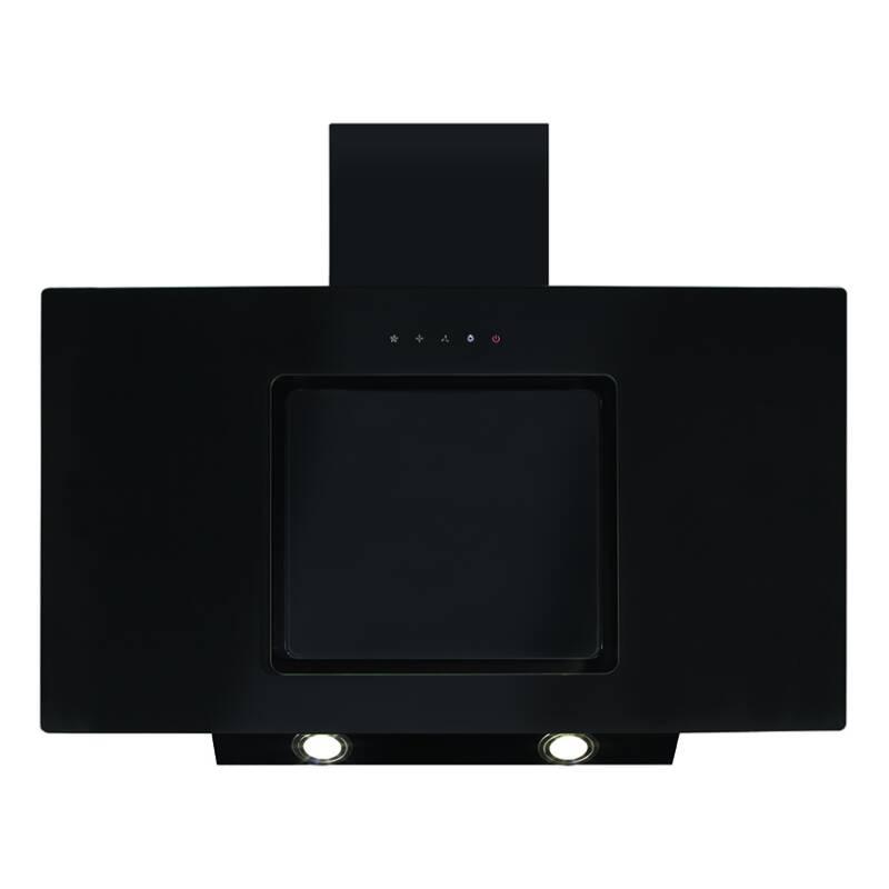 CDA H1110xW900xD330 Angled Chimney Hood - Black - EVA90BL primary image