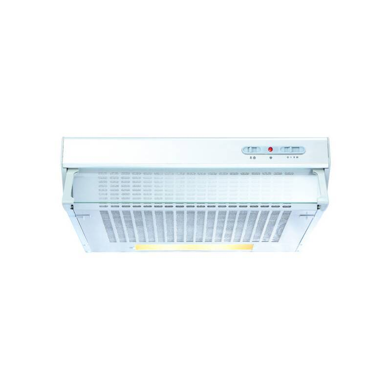 CDA H113xW600xD470 Conventional Integrated Cooker Hood - White primary image