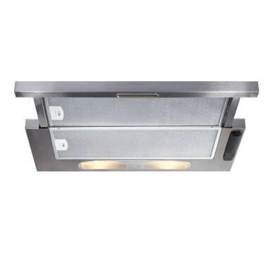 CDA H135xW600xD270 Telescopic Cooker Hood - Stainless Steel