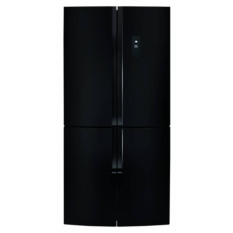 CDA H1815xW785xD685 American Style Fridge Freezer Four Door - Black primary image