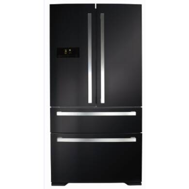 CDA H1850xW910xD760 Two Door Fridge With Two Drawer Freezer - Black