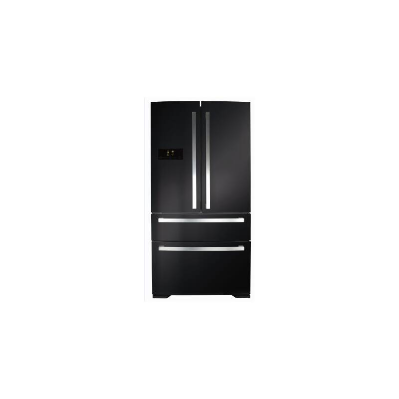 CDA H1850xW910xD760 Two Door Fridge  With  Two Drawer Freezer - Black primary image