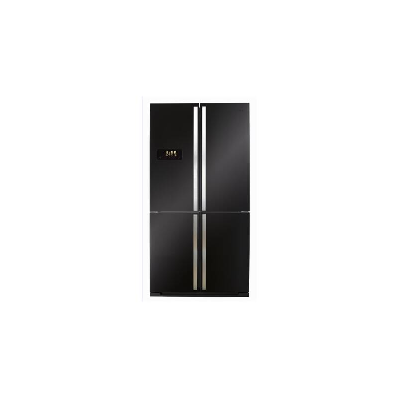 CDA H1850xW910xD765 Premium Four Door Fridge Freezer Black primary image